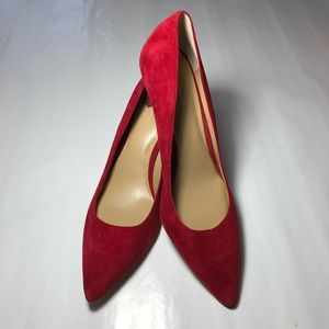 Ann Taylor Eryn Red Suede Pumps